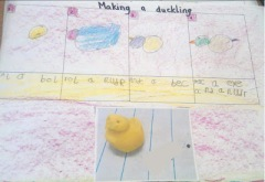 making a duckling