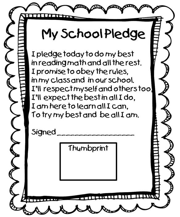 me and my school pledge